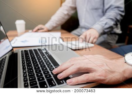 Administrator Business Man Financial Inspector And Secretary Making Report, Calculating Or Checking
