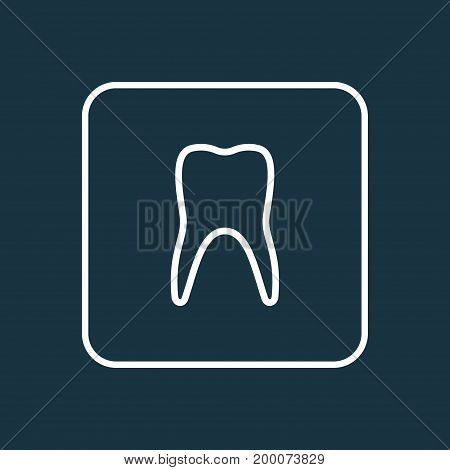 Premium Quality Isolated Claw  Element In Trendy Style.  Tooth Outline Symbol.