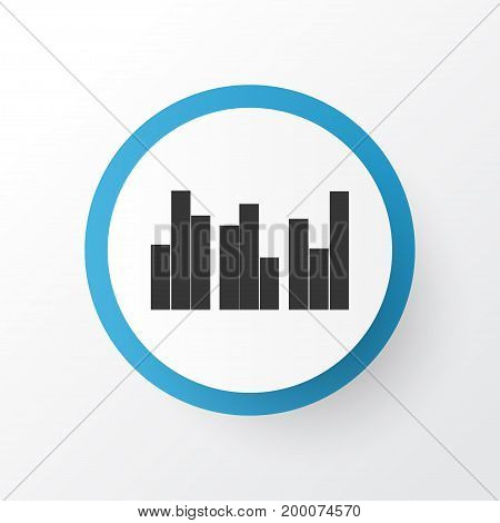 Premium Quality Isolated Multiple Bars Element In Trendy Style.  Grouped Charts Icon Symbol.