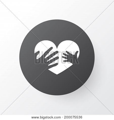 Premium Quality Isolated Hands Element In Trendy Style.  Loving Icon Symbol.