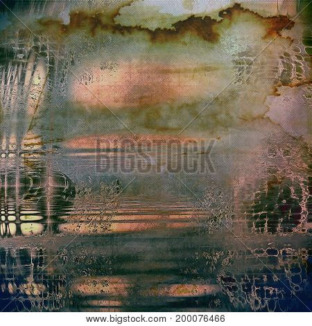 Digitally designed background or texture for retro style frame. With different color patterns
