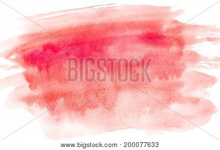 Watercolor abstract background pink.Bright pink background .