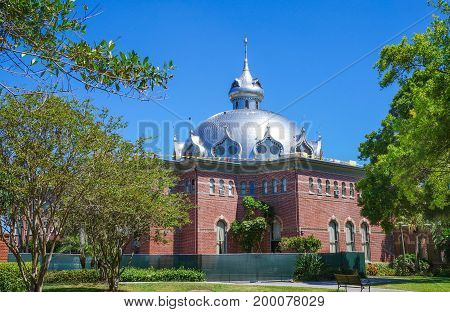 Fletcher hall of the University of Tampa in Tampa, Florida, United States, April 28, 2017