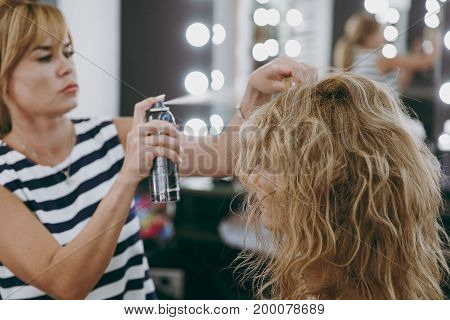 Make-up And Hairstyle For A Girl