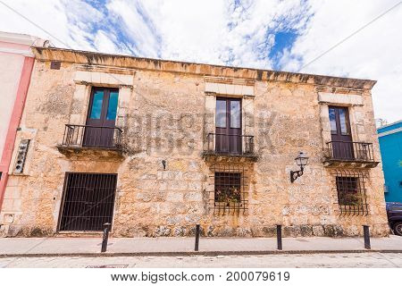 View Of The Old Building, Santo Domingo, Dominican Republic. Copy Space For Text.