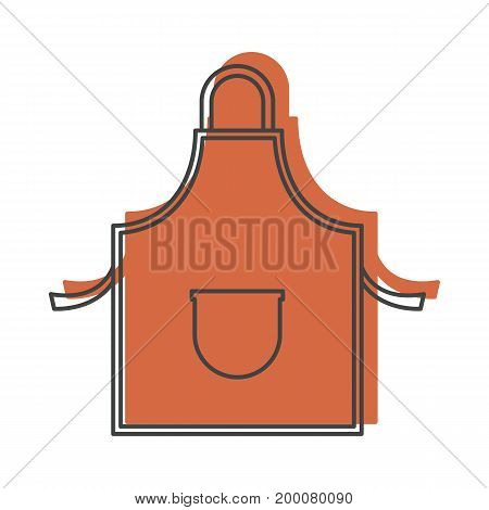 Apron grill in doodle style isolated on white background kitchen object for kitchen design and web vector illustration