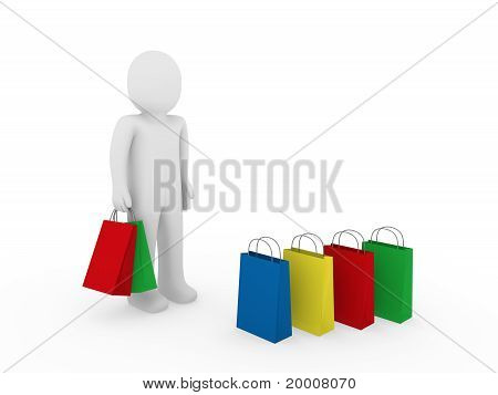 3D Man Sale Bag