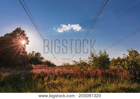 Sunset- High Voltage Line