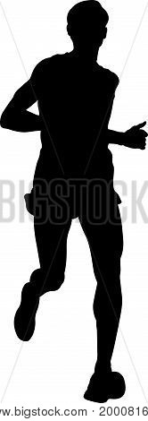 dynamic running marathon man athlete runner illustration