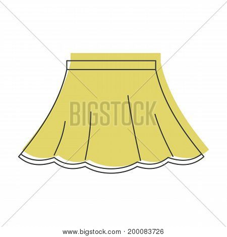Skirt in doodle style icons vector illustration for design and web isolated on white background. Skirt vector object for labels and logo