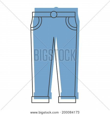 Blue pants in doodle style icons vector illustration for design and web isolated on white background. Blue pants vector object for labels and logo