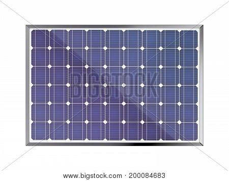 Solar panel isolated on white background, 3D illustration