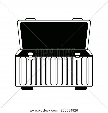 box for carrying tools handle equipment empty open vector illustration