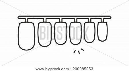 Fake nails line icon on white background. Vector illustration.