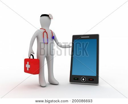 phone service concept . 3d rendered illustation