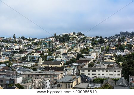 View of San Francisco from Castro Hills California