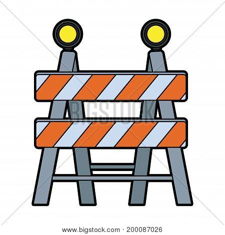 under construction barrier icon graphic design vector illustration