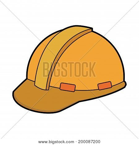 construction helmet element safety in construction work vector illustration