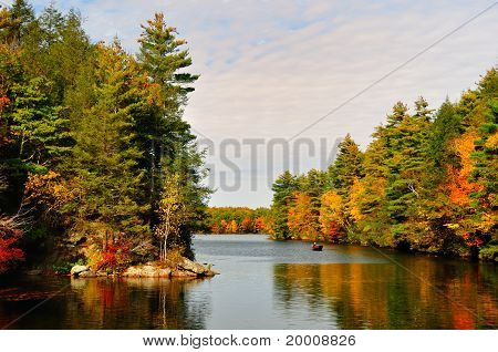 Fall Folliage at a lake