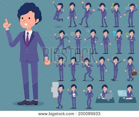 Flat Type Perm Hair Businessman_1