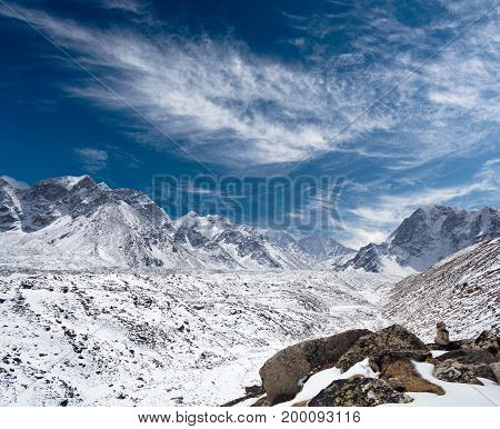 Himalaya Mountain Landscape In Everest Region, Nepal, Himalayas