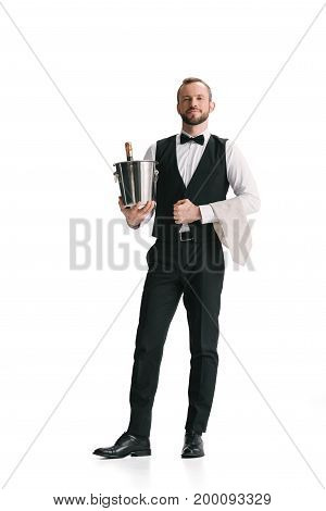 Waiter With Bottle Of Champagne