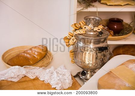 Samovar With The Sheep On The Table