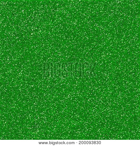 A digitally created green glitter paper background texture.