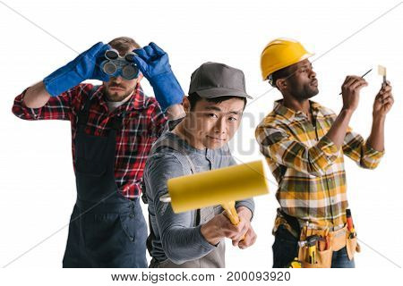 Group Of Multiethnic Construction Workers
