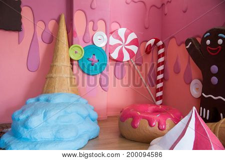 Confectionery Style, Colorful Fake Big Sweets