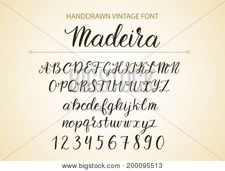 Hand Drawn Brush Style Modern Calligraphy Cursive Typeface Lettering And