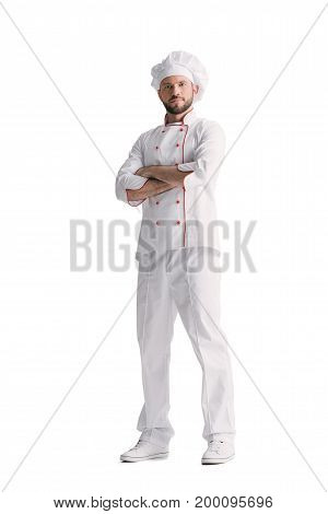 Pensive Chef With Folded Arms