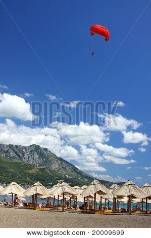 Famous Becici Beach, Montenegro