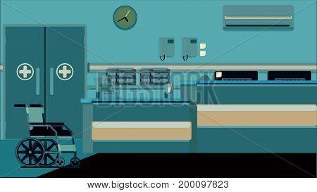 Hospital Reception Doctors Office colorful illustration rasterized