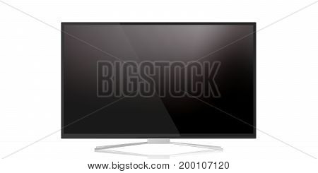 Tv Monitor On White Background. 3D Illustration
