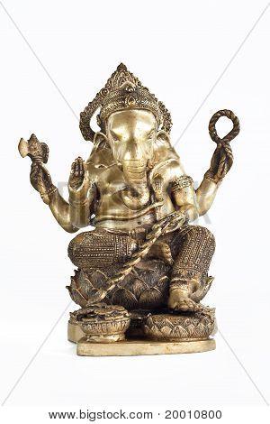 Golden Hindu God Ganesh