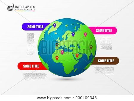 Infographic design template. Creative world concept. Vector illustration