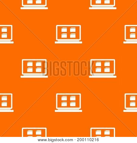 Desktop pattern repeat seamless in orange color for any design. Vector geometric illustration