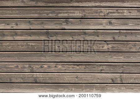 Background, Horizontally Oriented Wooden Boards As Fence