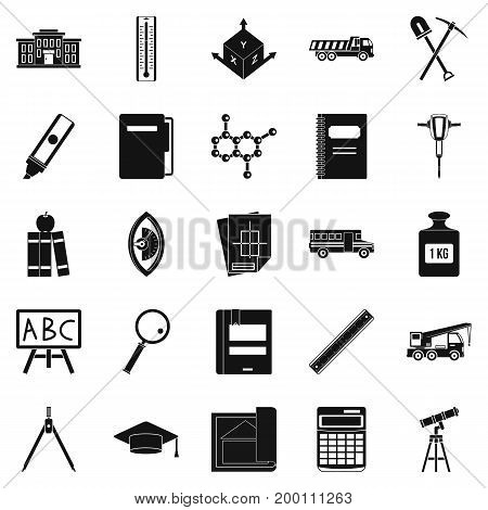 Denominator icons set. Simple set of 25 denominator vector icons for web isolated on white background
