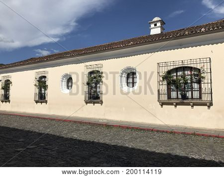 Calle de la Antigua Guatemala de la ciudad de Guateamla