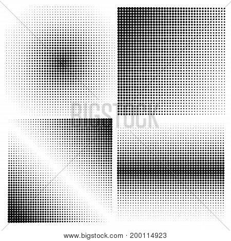 Set of halftone backgrounds.Vector halftone dots pattern.