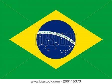 Flag of Brazil vector illustration graphic design