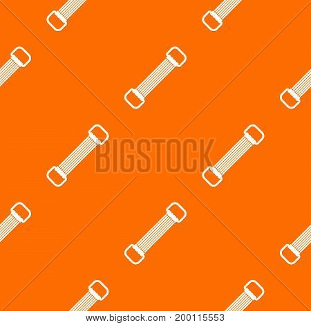 Sports stretchable belt pattern repeat seamless in orange color for any design. Vector geometric illustration