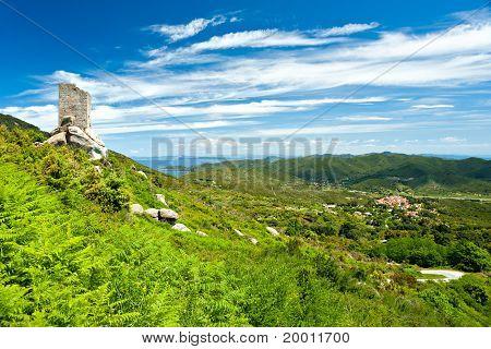 Panoramic View Of Elba Island.