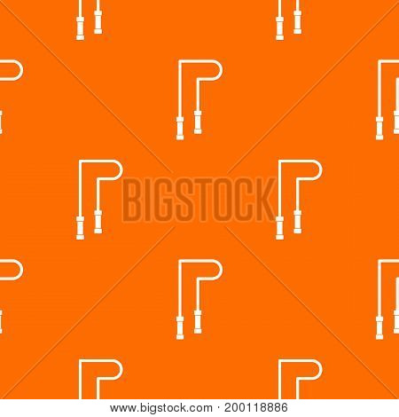 Skipping rope pattern repeat seamless in orange color for any design. Vector geometric illustration