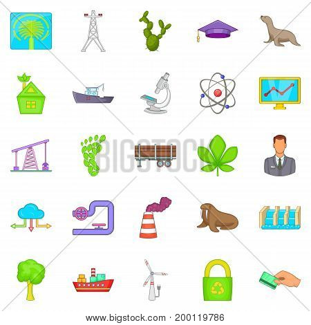 Helping animals icons set. Cartoon set of 25 helping animals vector icons for web isolated on white background