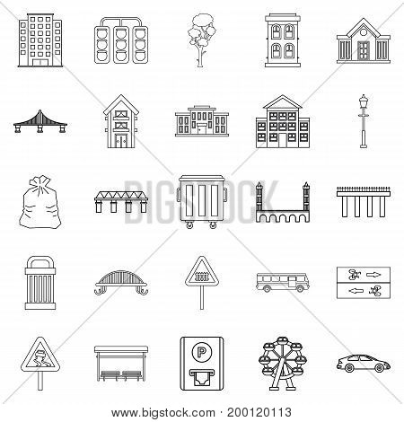 Clean energy icons set. Outline set of 25 clean energy vector icons for web isolated on white background