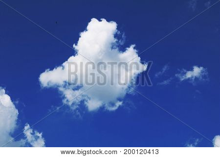Cloud Against The Blue Sky in the summer