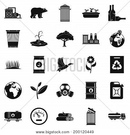 Enviroment protection icons set. Simple set of 25 enviroment protection vector icons for web isolated on white background
